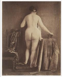 nu perante a câmera Julien Vallou de Villeneuve (French, 1795–1866)