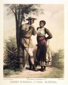 Rugendas_-_Negro_e_Negra_n'uma_Fazenda