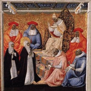 Giovanni-Di-Paolo-St-Catherine-before-the-Pope-at-Avignon-S