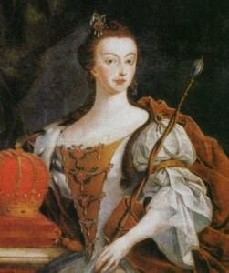 Dona Maria I, Rainha de Portugal, por José Leandro de Carvalho, 1808.