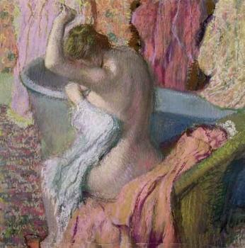 """""""Deixando o banho"""", de Degas."""