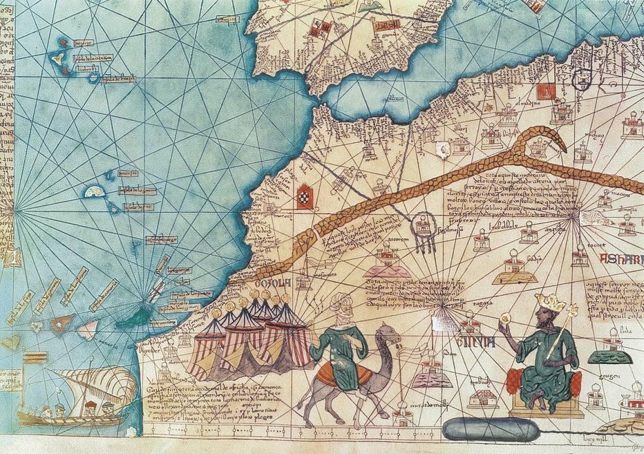 mapa antigo da África