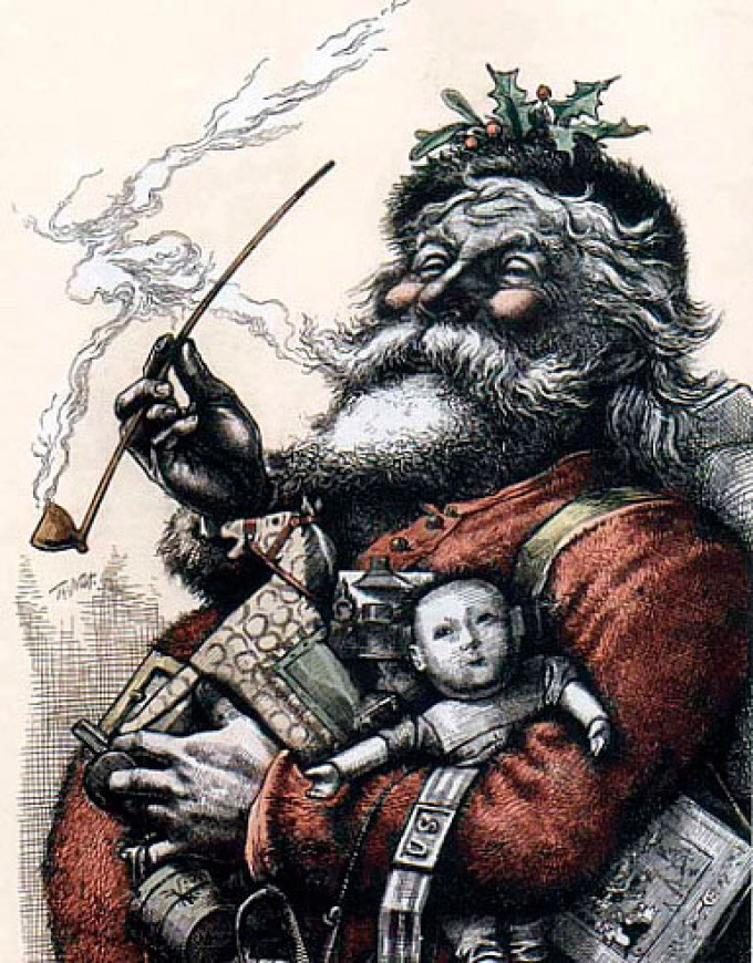 Santa Claus by Thomas Nast. First published in Harper's Weekly, 1863