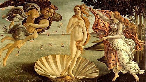 'O nascimento de Vênus', de Botticelli. Foto: reprodução