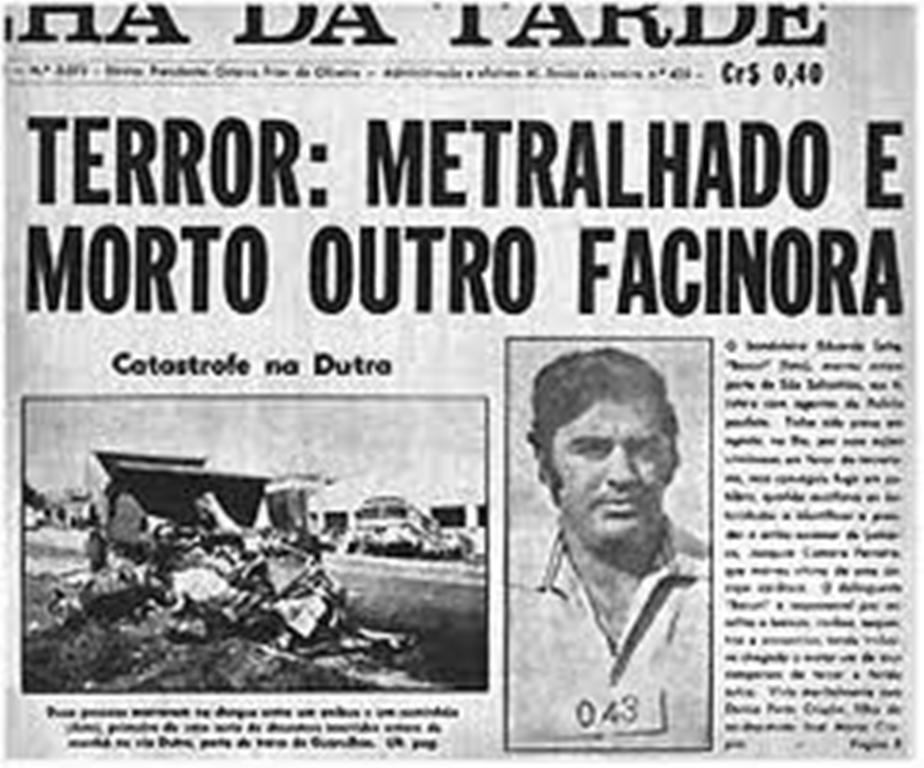 Capa do jornal Folha da Tarde de 1970