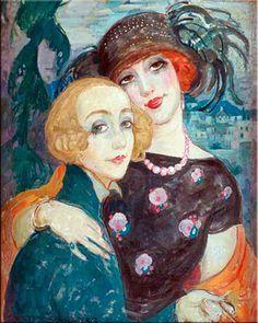 lustração de Lily e Gerda, por Gerda Gottlieb.