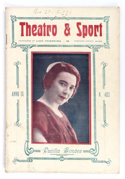 Capa da revista Theatro & Sport