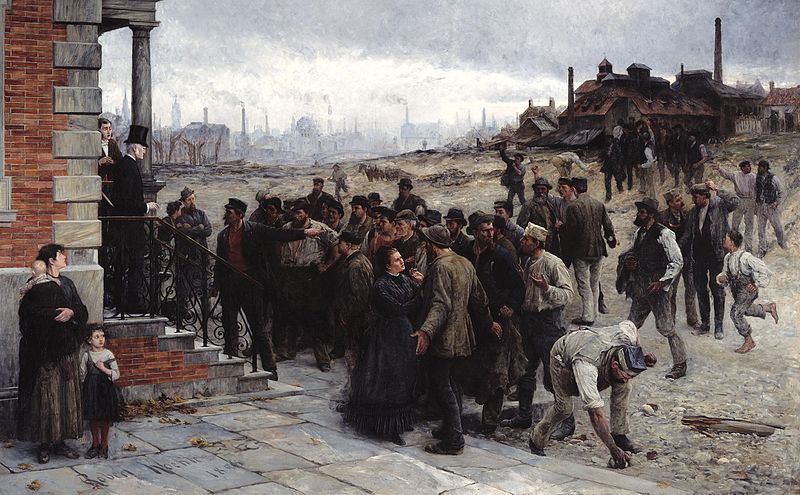 'The Strike.' Oil on canvas by Robert Koehler, 1886