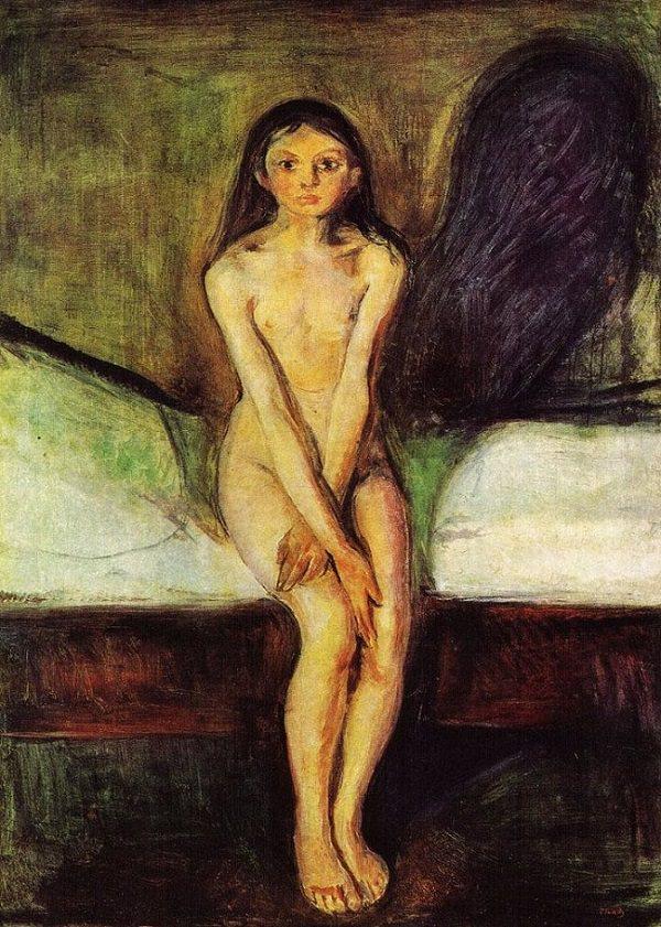 """Puberdade"""" (1894), de Edvard Munch. Reprodução."""