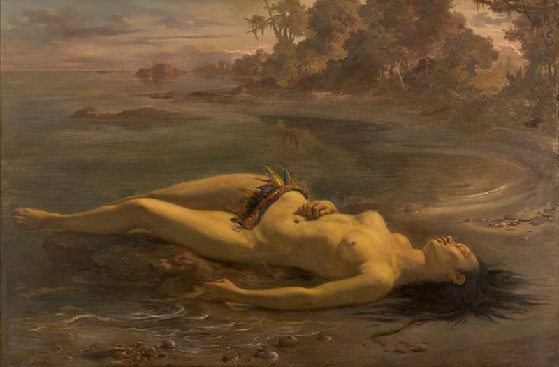 """""""Moema"""", de Victor Meirelles (1866)."""