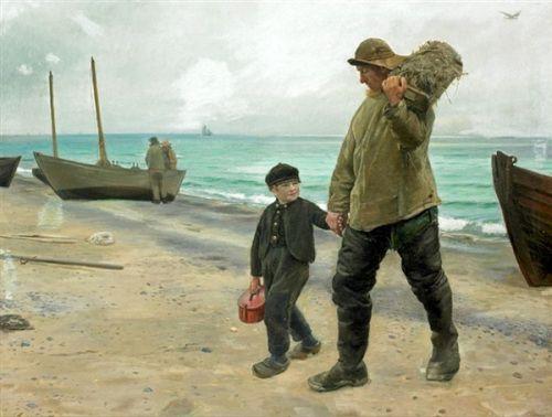 pai e filho de Ancher