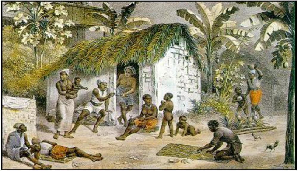 Johann Moritz Rugendas: habitação dos negros