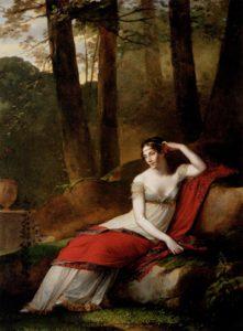 A imperatriz Josephine em Malmaison. 1805. ost; 244x179cm. paris, Louvre